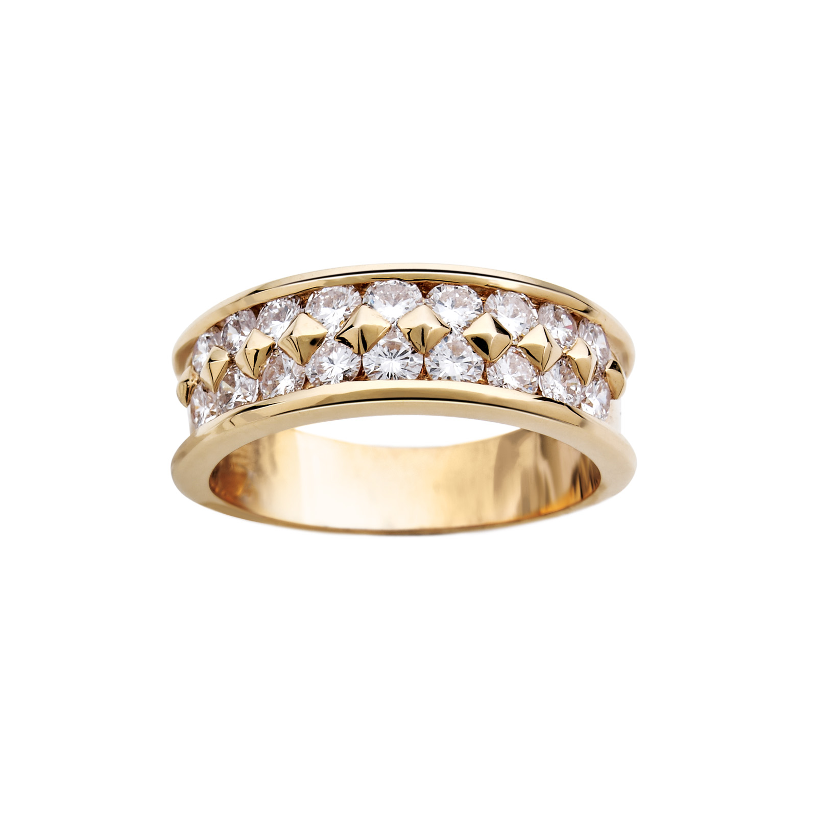 Demi-alliance Or Jaune et Diamants - Pascal IZERN