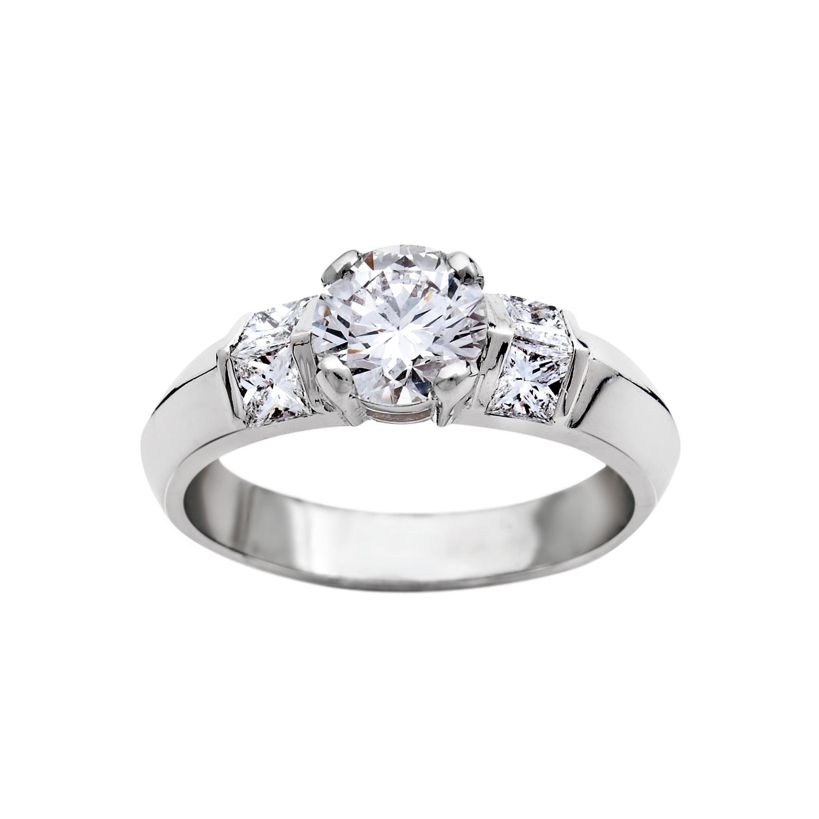 Solitaire Or gris et Diamants Princesse - Pascal IZERN