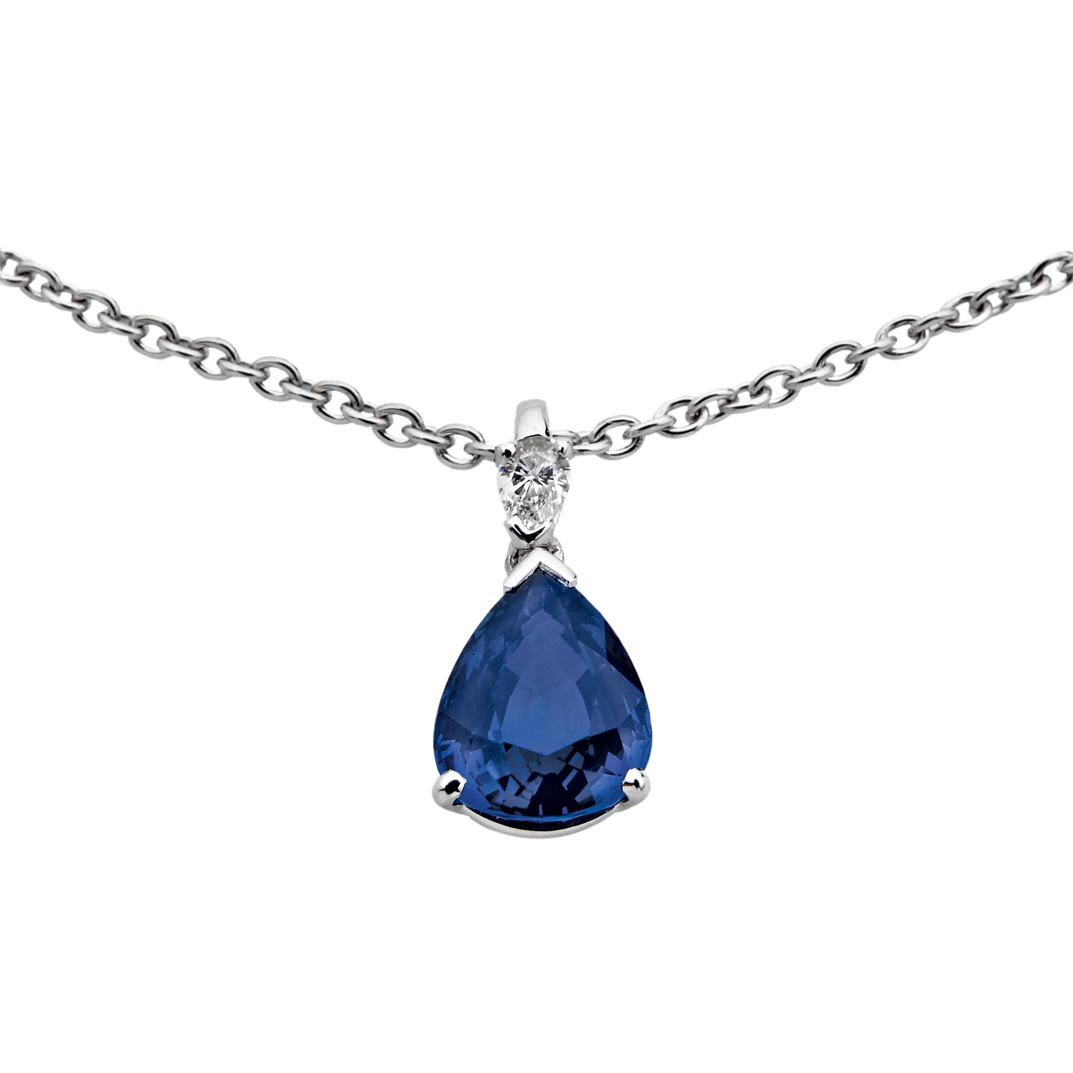 Pendentif Saphir et Diamants - Pascal IZERN