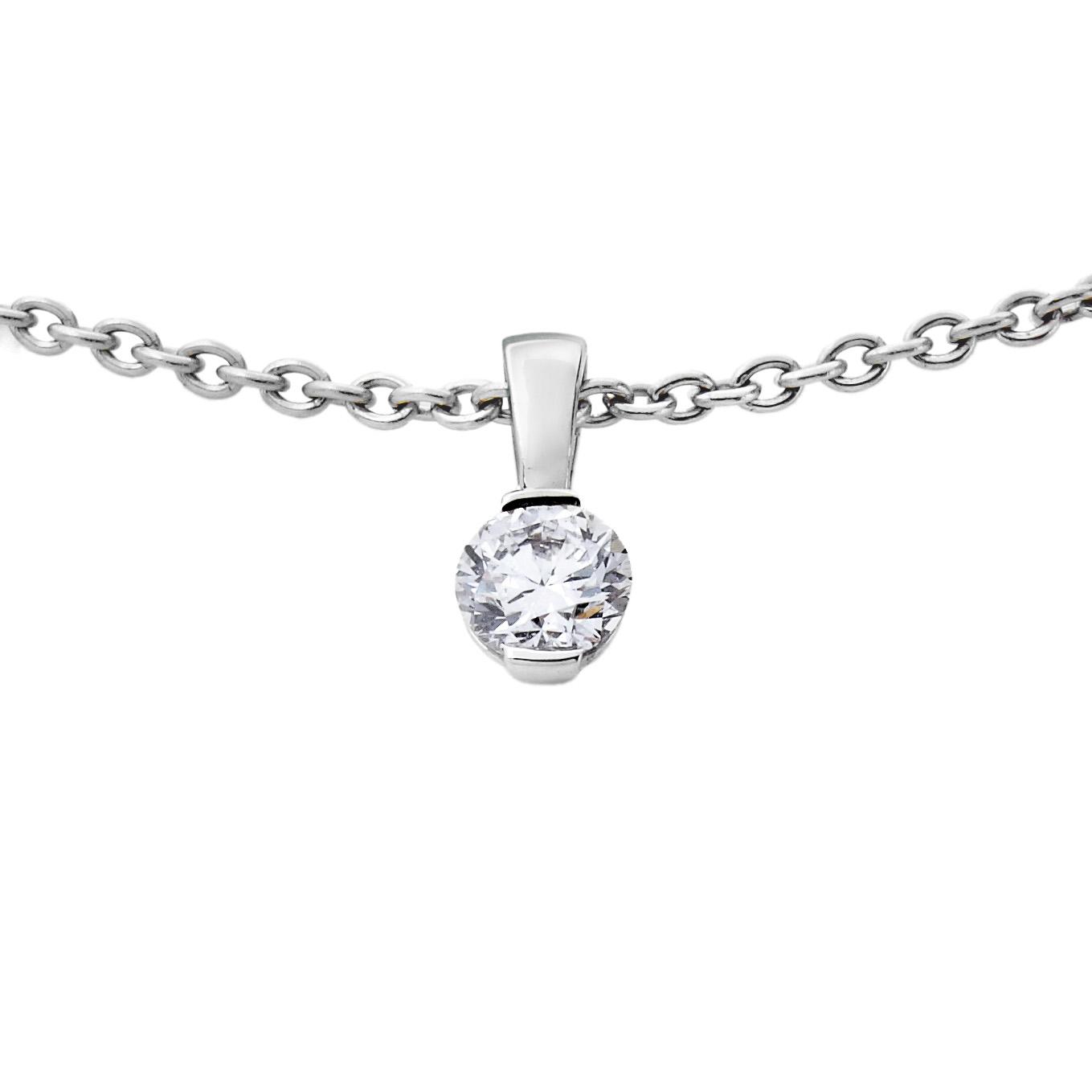 Pendentif Diamants et Or gris sur bélière - Pascal IZERN