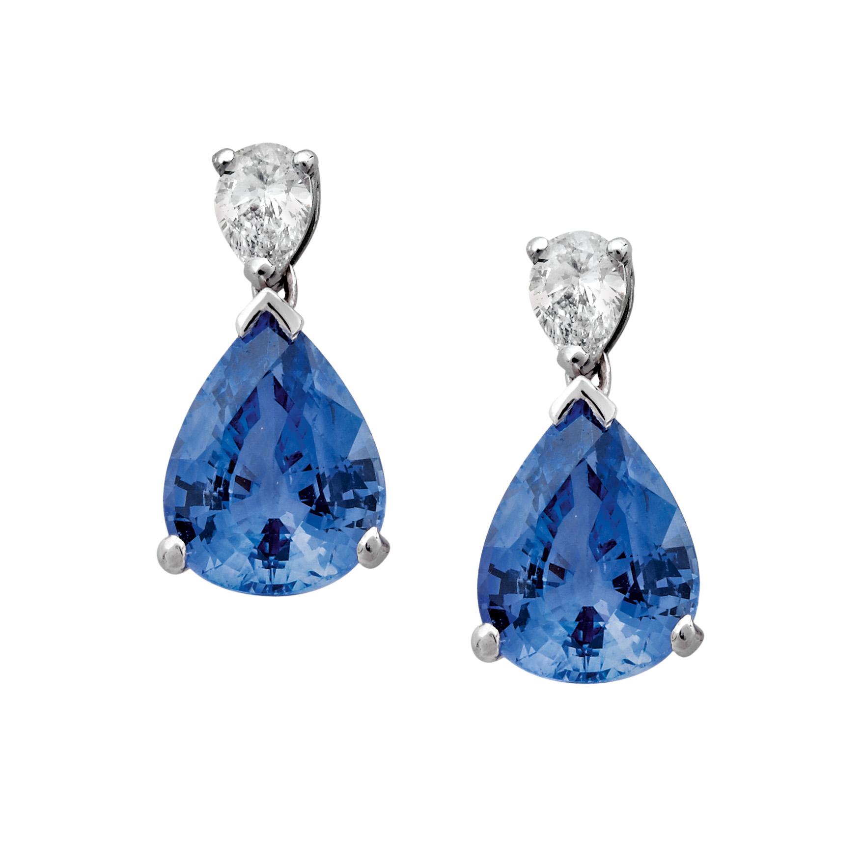 Boucles Saphirs, Diamants et Or gris - Pascal IZERN